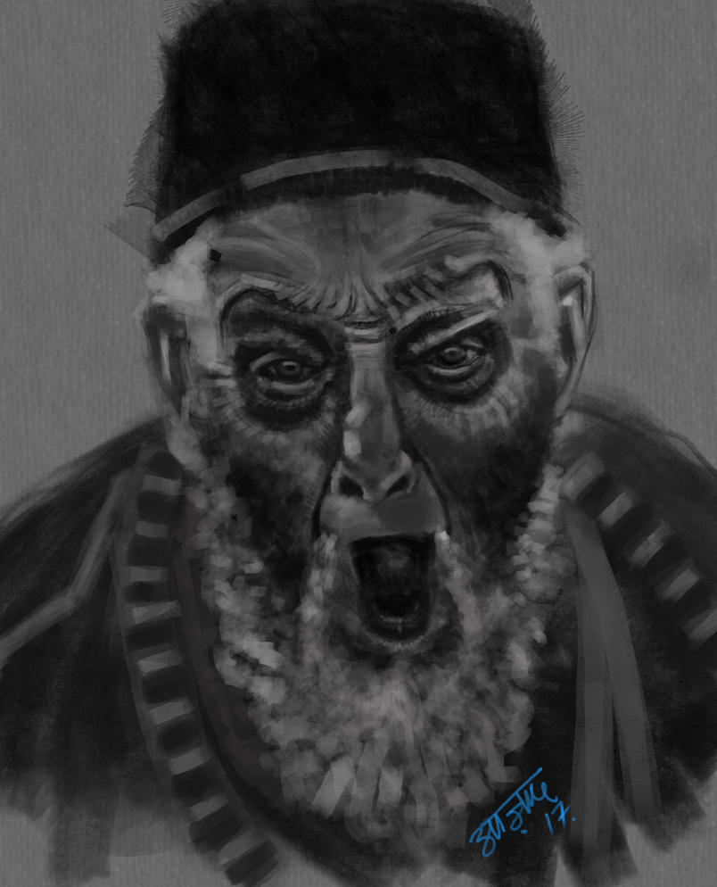 angry old man by Ranjanazad