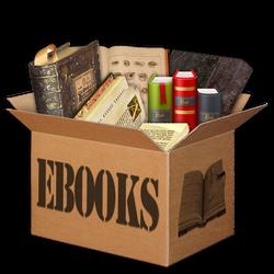 Ebooks Box 1 Icon by KAdDigArt