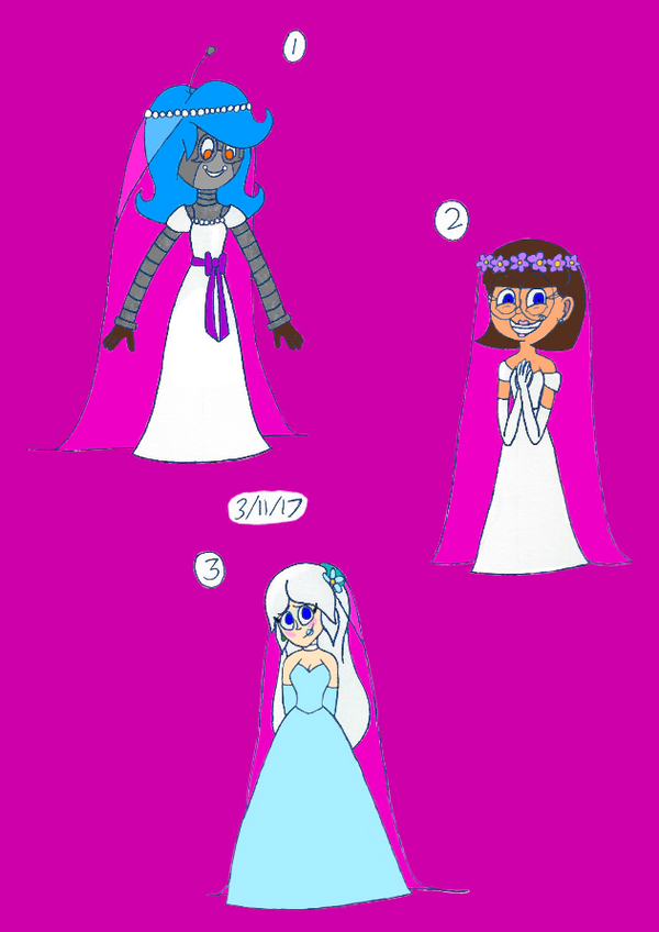 Three Beautiful Brides by Lizlovestoons12
