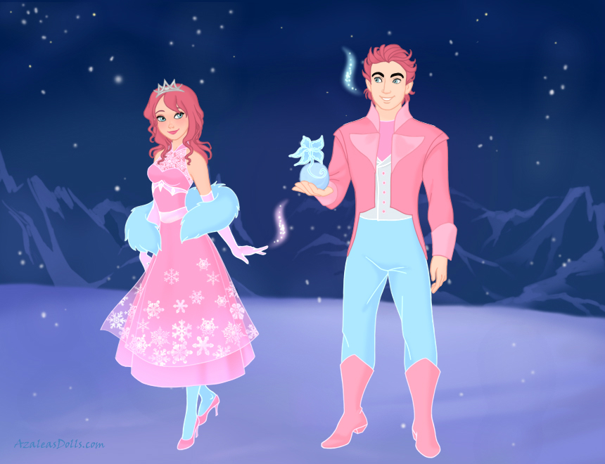 FBnCC: Snowy and Berry (humans) by Lizlovestoons12