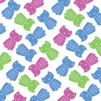 Colourful Cat Pattern by Sian44