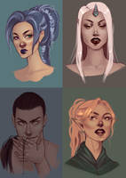 Speed portraits by spectr00m