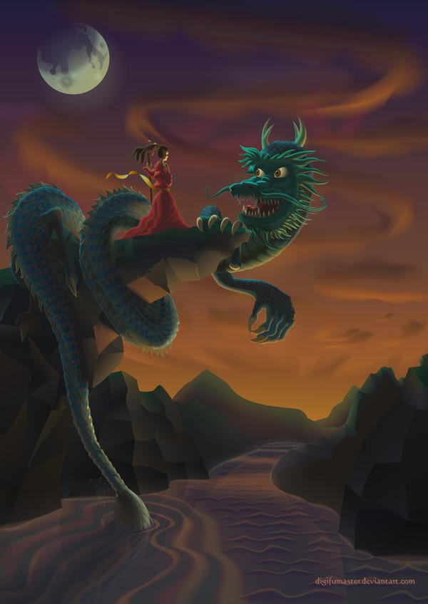 Lady and the Dragon by DigiFuMaster