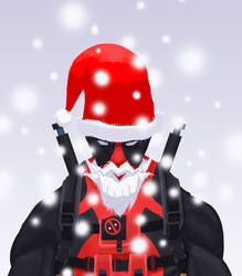 Deadpool Santafied by a-mini-boss
