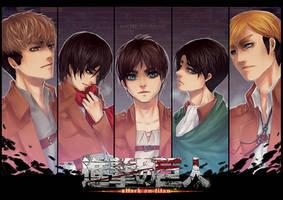 Shingeki no Kyojin: Five by Alicere