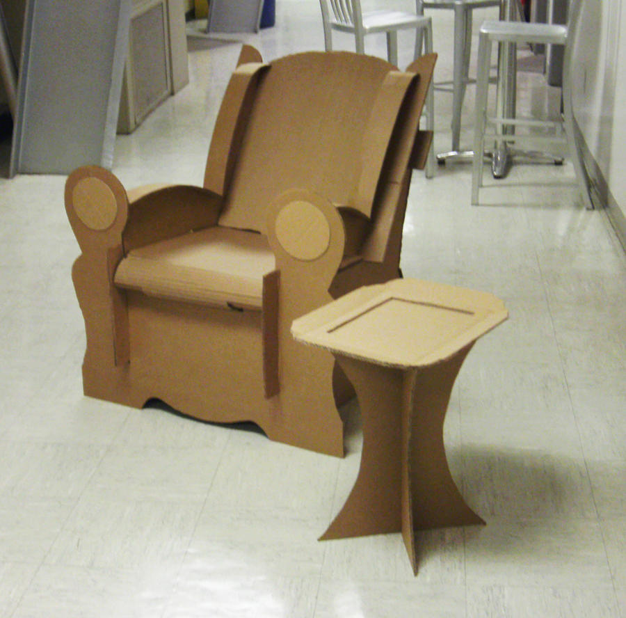 Cardboard rocking chair - 17 Best Images About Si Ges Carton On Pinterest Diy Cardboard Rocking Chairs And Plywood Chair