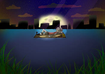Jason On A Lake (and a speedpaint) by Rainb0t