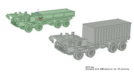 Newly created tactic truck for 3D printing