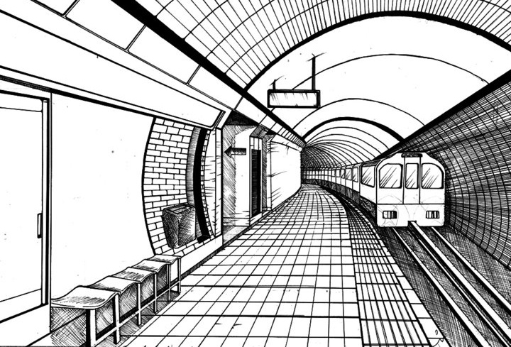 how to draw a metro train