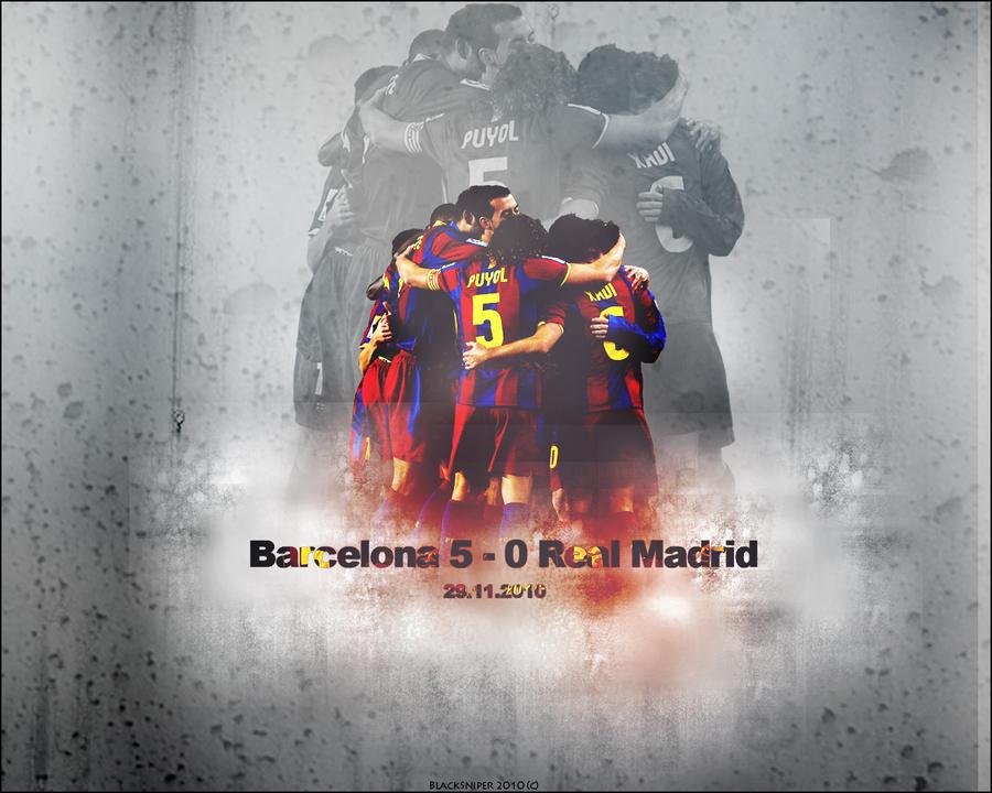 Barcelona 5-0 Real Madrid by BlackSniperGFX on DeviantArt