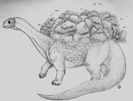 Retrosaur Challenge 19: Plodding Giant by SaurArch