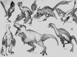 Dinosaur Phylogeny: Non Avian Coelurosaurs by SaurArch