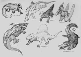 Dinosaur Phylogeny: Bonus: Dinosaur Relatives by SaurArch