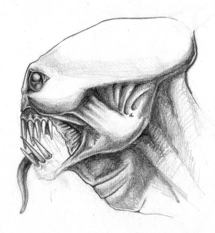 alien head drawing - photo #28