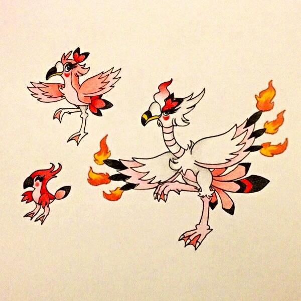 Flamingo Fakemons by TheBootanuki97