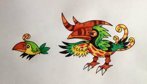 Hornbill Fakemons by TheBootanuki97