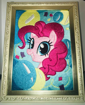 Pinkie pie Embroidery painting by V-ZeN