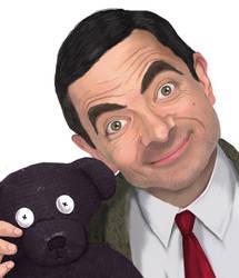 Mr. Bean and Teddy by depp800