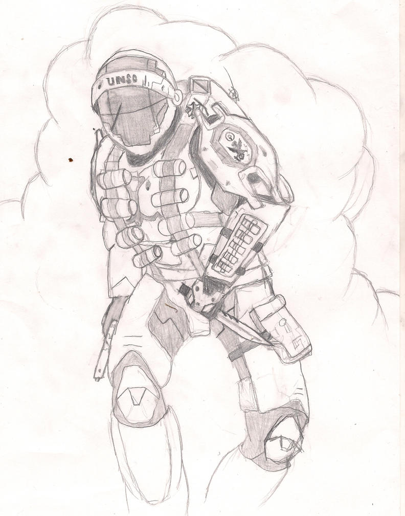 how to draw a halo spartan easy