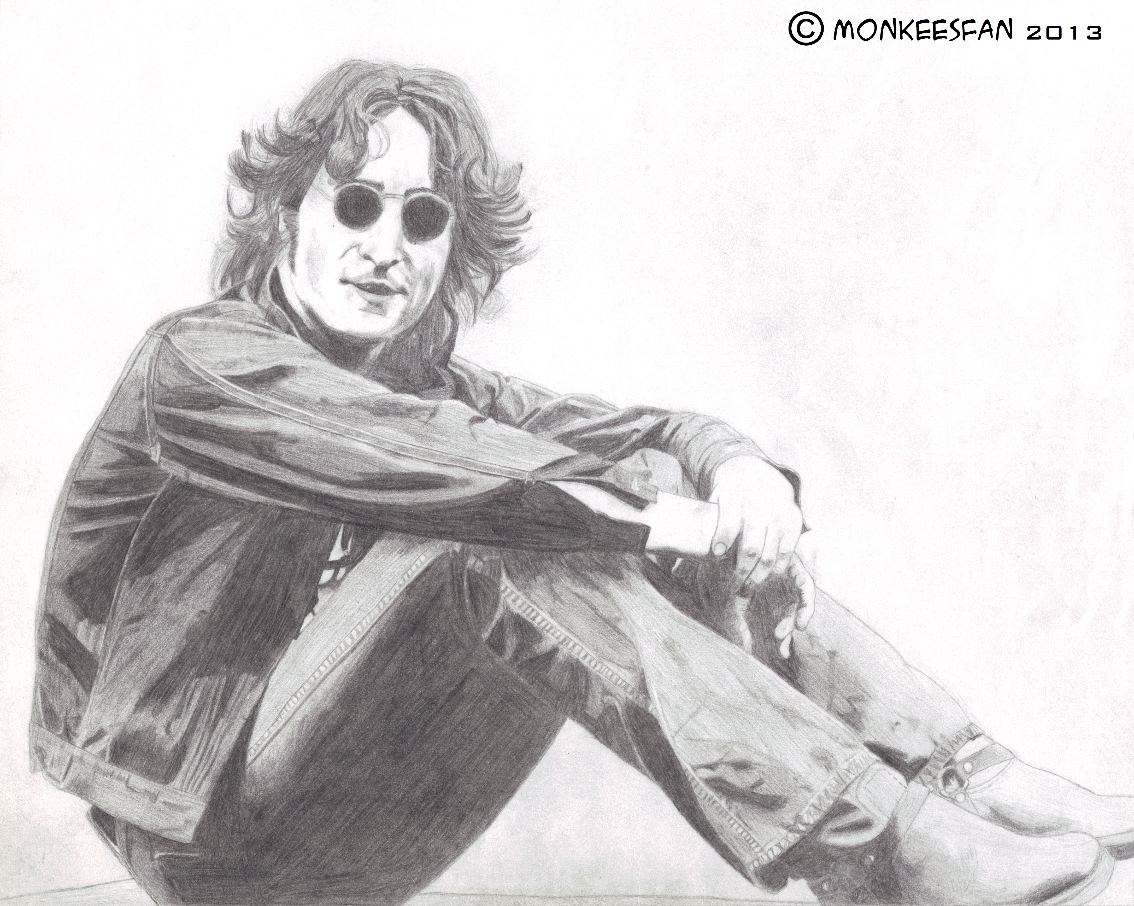 John Lennon, 1974 by ThePeculiarMissE