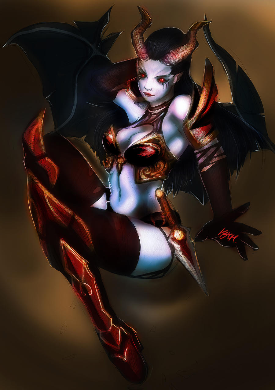 Dota 2 Queen of Pain by nahnahnivek