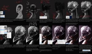 Plain Digital Tutorial - Mysterious Girl