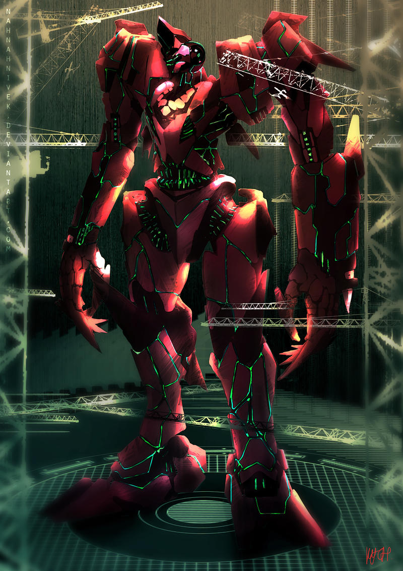 Pacific Rim - The Red Queen, Sarawak's Jaeger by nahnahnivek