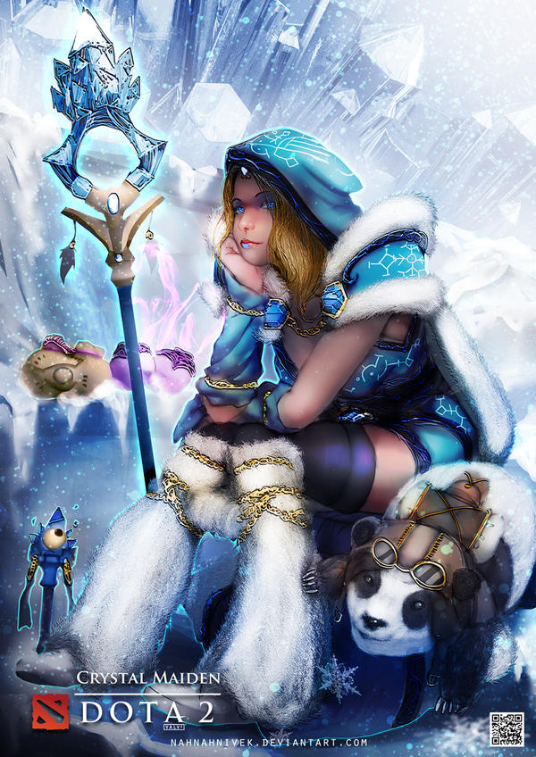 dota 2 crystal maiden by kevin glint on deviantart