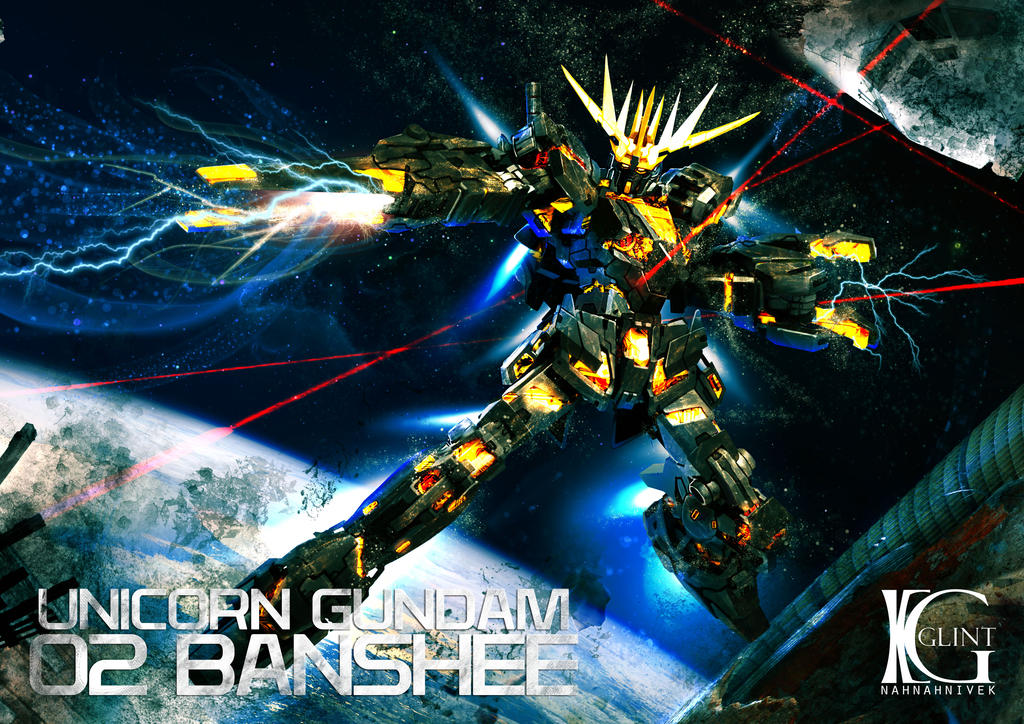Banshee Gundam By Kevin Glint On Deviantart