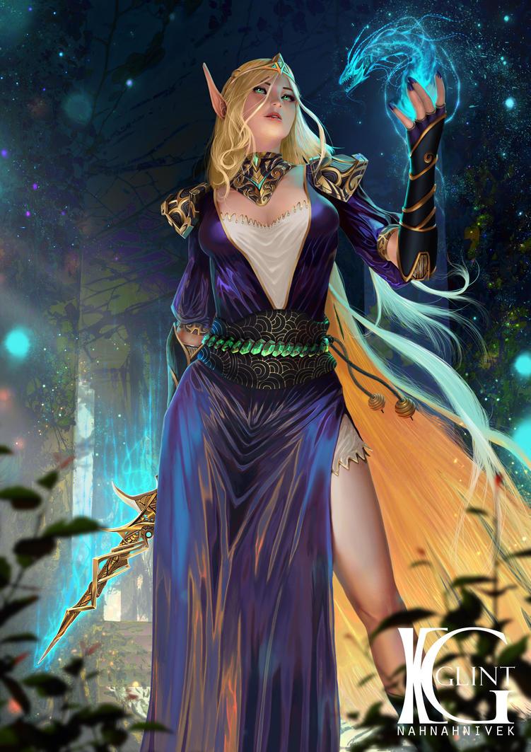 Blood Elf Sorcerer by Kevin-Glint