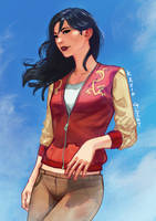 Mulan-doodle by Kevin-Glint