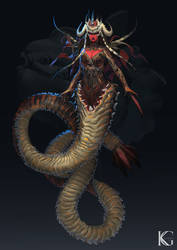 Bobbit Worm Girl by Kevin-Glint
