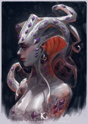 Jewelled Umbrella Squid Girl Portrait