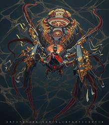 Japanese Mech Spider Girl