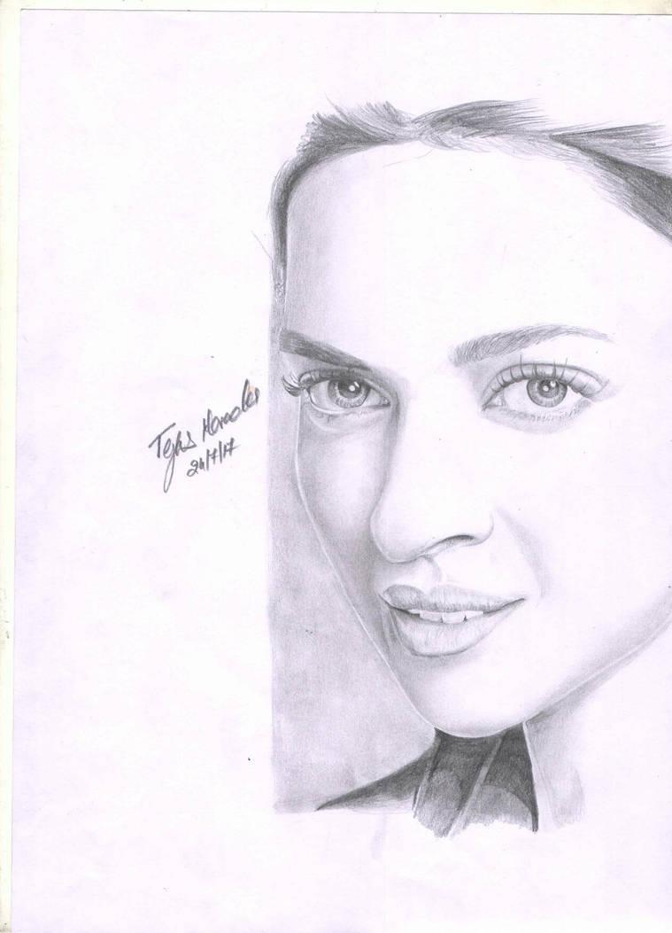 Dipika padukone pencil drawing by tejasmevada on deviantart