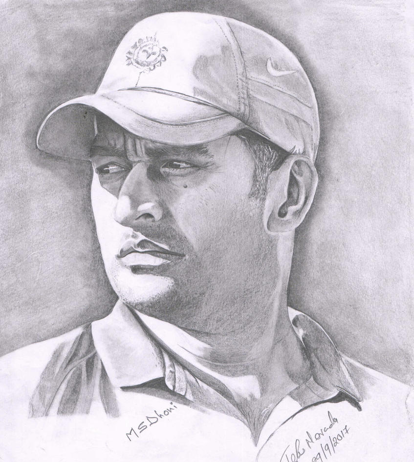 M S Dhoni Pencil Drawing By Tejasmevada On DeviantArt