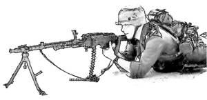 German WWII mashinegunner