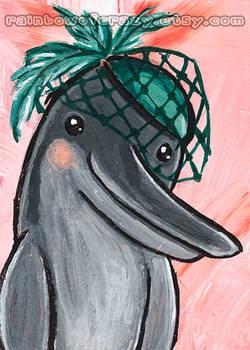 Veil Dolphin - ACEO