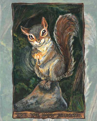 The Happy Squirrel Tarot Card by sobeyondthis