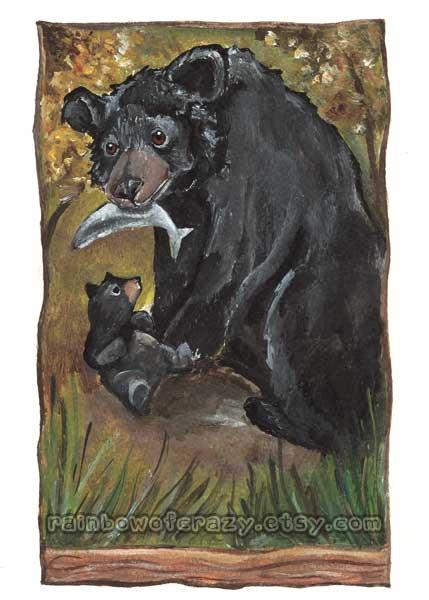 Tarot Card Art - Bear WIP 1