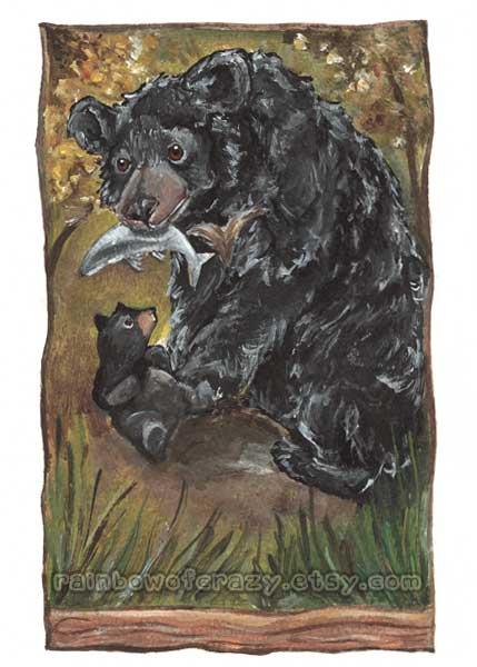 Tarot Card Art - Bear WIP 2