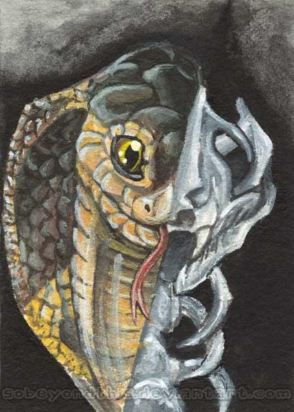 Cobra Snake Skull by sobeyondthis