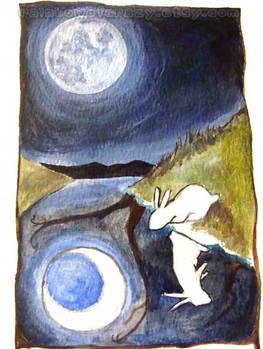 The Moon Tarot Card - WIP