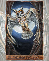 The High Priestess Tarot Card by sobeyondthis