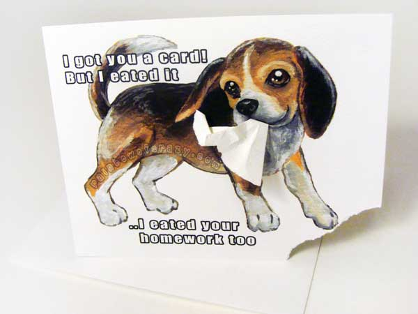 Beagle - Got You A Card But I Eated It by sobeyondthis