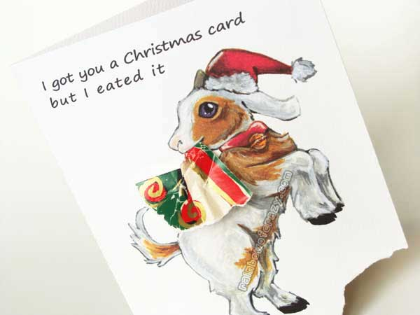 Christmas Goat - Got You A Card But - by sobeyondthis