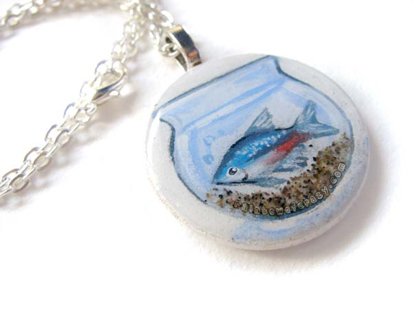 Tetra Fish - Pendant Necklace by sobeyondthis