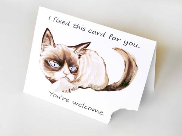 grumpy cat greeting card by sobeyondthis on deviantart