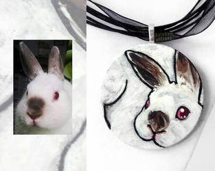 Plump - Rabbit Necklace by sobeyondthis