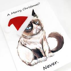 Grumpy Christmas Card